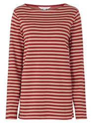 Tulchan Double Face Stripe T Shirt Red