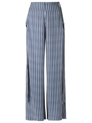 Giuliana Romanno High Waisted Trousers Blue