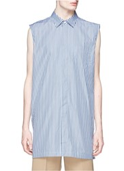Acne Studios 'Stein' Stripe Sleeveless Long Shirt Blue