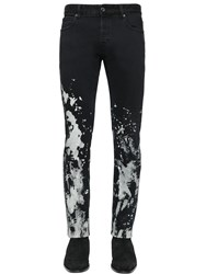 Just Cavalli 17Cm Bleached Stretch Denim Jeans