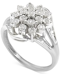 Macy's Diamond Cluster Ring 1 5 Ct. T.W. In Sterling Silver