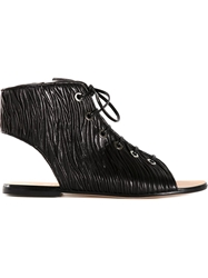 Viktor And Rolf Lace Up Sandals Black