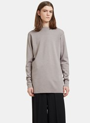 Rick Owens Oversized Tight Knit Sweater Grey