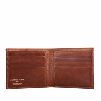 Maxwell Scott Bags The Vittore Classic Men's Leather Billfold Wallet Chestnut Tan Brown