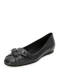 Napa Jeweled Buckle Loafer Black Bottega Veneta