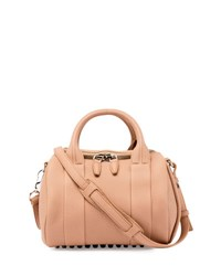 Alexander Wang Mini Rockie Matte Pebbled Duffel Bag Truffle