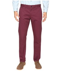 Original Penguin P55 Slim Stretch Chino Pants Mauve Wine Men's Casual Pants Burgundy