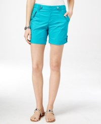 Inc International Concepts Roll Tab Shorts Only At Macy's Teal Glow