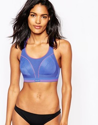 Shock Absorber A F Ultimate Run Gym Bra Blue