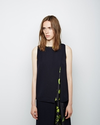 3.1 Phillip Lim Overlapping Cutaway Tank Fluorescent Yellow