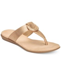 Aerosoles Supper Chlub Flat Thong Sandals Women's Shoes Gold