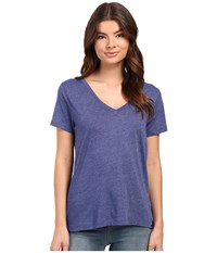 Hurley Staple Perfect V Tee Heather Loyal Blue Women's T Shirt