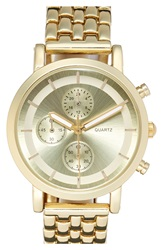 Bp Round Face Watch Gold