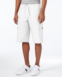 Sean John Men's Lightweight Cargo Shorts Bright White
