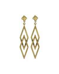 Auden Dakota Brass Statement Earrings Bronze