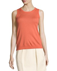 See By Chloe Round Neck Sleeveless Shell Salmon