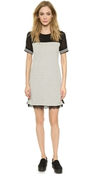 Maison Scotch Baseball Mini Dress Grey Melange