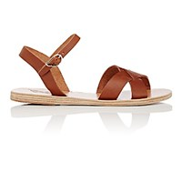 Ancient Greek Sandals Women's Evdokia Leather Ankle Strap Tan