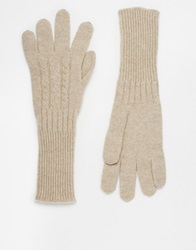 Johnstons Cashmere Cable Knit Gloves Dkmeddyed
