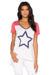 Chaser American Star Tee White