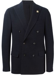 Lardini Double Breasted Blazer Blue
