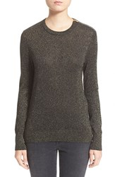 Women's Equipment 'Ondine' Zip Shoulder Metallic Crewneck Sweater