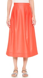 Cg Mid Length Circle Skirt Poppy Red