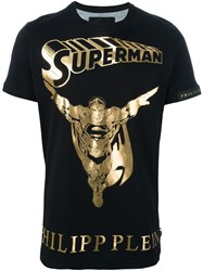 Philipp Plein 'Golden Hero' T Shirt Black
