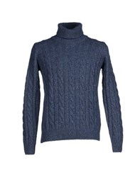 Altea Knitwear Turtlenecks Men Slate Blue