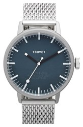 Men's Tsovet 'Svt Sc38' Mesh Strap Watch 38Mm