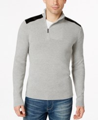 Inc International Concepts Asymmetrical Faux Leather Trim Sweater Only At Macy's