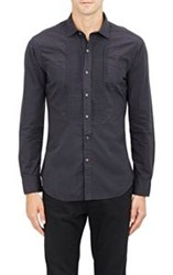 Ralph Lauren Black Label Bibbed Poplin Shirt Black