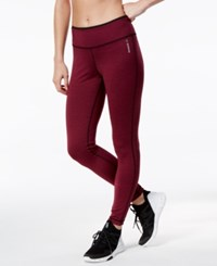 Reebok Reversible Speedwick Leggings Mystic Maroon