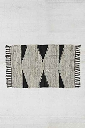 Magical Thinking Woven Leather Rag Rug
