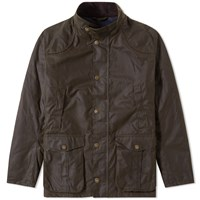 Barbour Leeward Wax Jacket Green