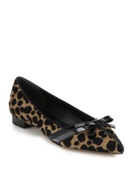Michael Kors Joey Cheetah Print Calf Hair And Patent Leather Flats Fawn Cheetah