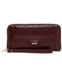 Guess Huntley Large Zip Around Wallet Bordeaux