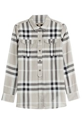 Burberry Brit Printed Cotton Shirt Grey