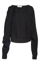 Wanda Nylon Hailey Long Sleeve Blouse Black