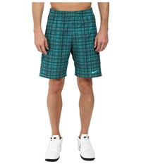 Nike Court 9 Plaid Shorts Rio Teal Hyper Jade Hyper Jade Men's Shorts Blue