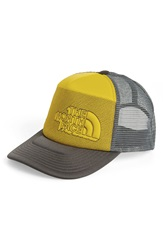 The North Face 'Cross Stitch' Trucker Hat Graphite Grey Acid Yellow