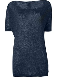 Woolrich Knitted T Shirt Blue