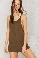 Nasty Gal Chill Of Rights Utility Romper