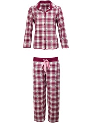 Cyberjammies Scarlet Heart Check Pyjamas Red