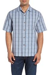 Tommy Bahama Men's Big And Tall Rum Sizzle Plaid Silk And Cotton Camp Shirt