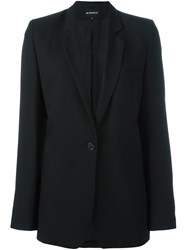 Ann Demeulemeester Single Button Blazer Blue