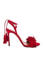 Aquazzura Wild Thing Leather Heels In Red