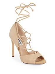 Steve Madden Rayshel Lace Up Suede Pumps Sand