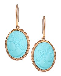 Lady Profile Turquoise Cameo Earrings Amedeo Turquoise Blue