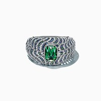 Tiffany And Co. Bracelet In Platinum With A 45.44 Carat Green Tourmaline. Platinum 950 Tourmaline Green